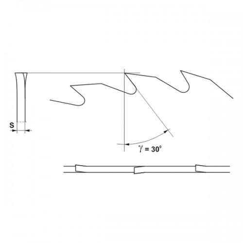 Panze circulare monometalice cu dantura LA 350x30x3,5/56 z
