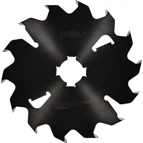 Panze circulare placate MULTIX pentru spintecarea lemnului verde 350x70x4,0/2,5/14z(+4 b. n.) 2GS20 keyway. 4(20x6) PLUS