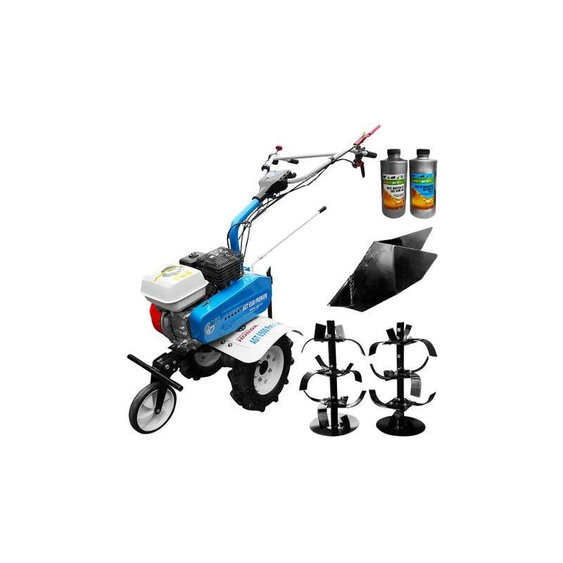 Motosapa Premium AGT 6500, Honda GX200, freze 80cm, roti cauciuc, rarita fixa + Cadou 1l Ulei motor, 1l Ulei transmisie