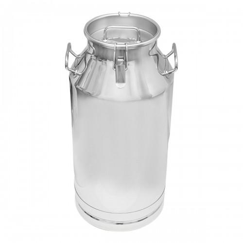 Bidon inox si capac inox  cu carabina pentru transport  lapte 40L